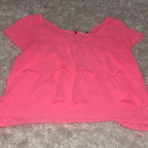 Peachy coral  ruffle top from American Eagle